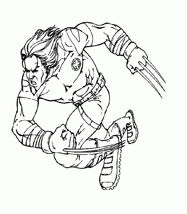 Coloriage et dessins gratuits X-Men Wolverine en Ligne à imprimer