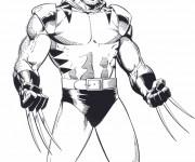 Coloriage X-Men Wolverine extraordinaire