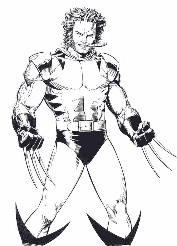Coloriage X Men Wolverine Extraordinaire Dessin Gratuit A Imprimer