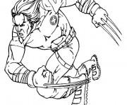 Coloriage X-Men Wolverine Le Fort