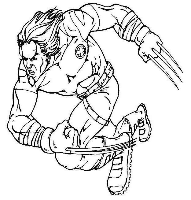 Coloriage et dessins gratuits X-Men Wolverine Le Fort à imprimer