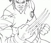 Coloriage X-Men Wolverine le tout puissant