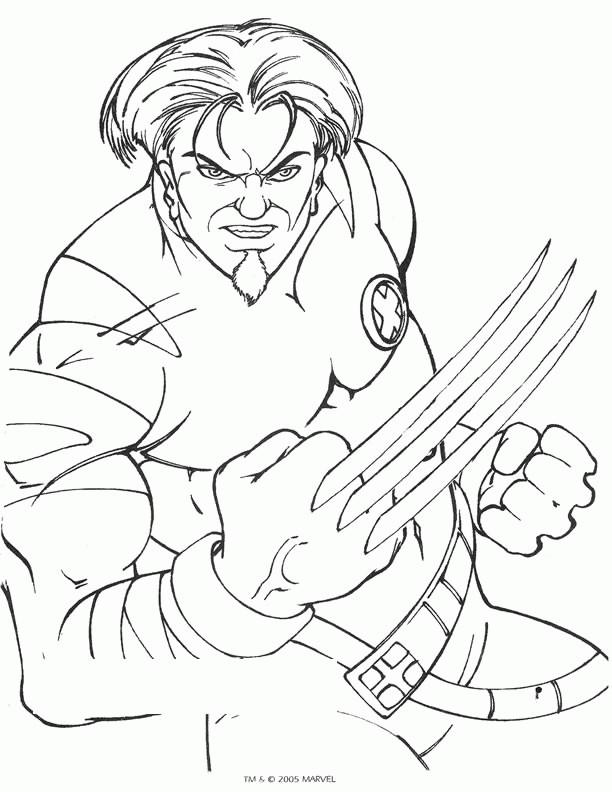 Coloriage et dessins gratuits X-Men Wolverine le tout puissant à imprimer
