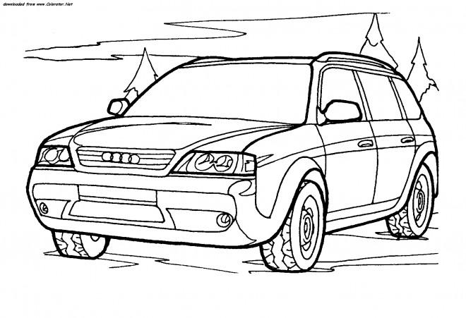 Coloriage et dessins gratuits 4 X 4 Audi à imprimer