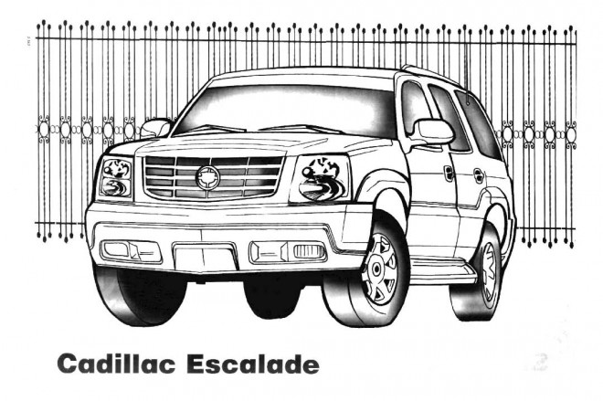 Coloriage et dessins gratuits 4 X 4 Cadillac Escalade à imprimer