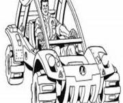Coloriage et dessins gratuit 4 X 4 de course à télécharger à imprimer