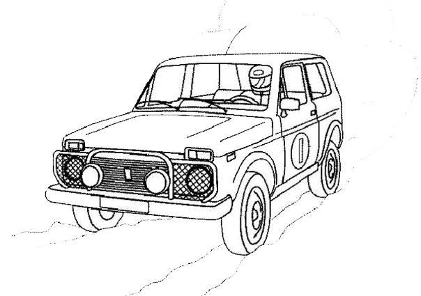 Coloriage et dessins gratuits 4 X 4 de rally à imprimer