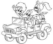 Coloriage et dessins gratuit 4 X 4 dessin animé à imprimer