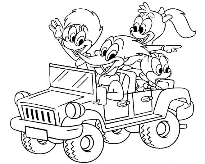Coloriage et dessins gratuits 4 X 4 dessin animé à imprimer