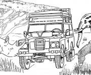 Coloriage et dessins gratuit 4 X 4 en Afrique à imprimer