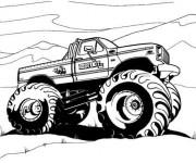Coloriage et dessins gratuit 4 X 4 en noir et blanc à imprimer