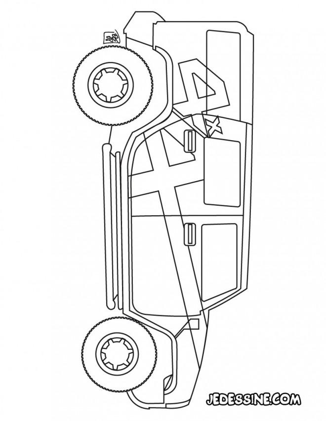 Coloriage et dessins gratuits 4 X 4 Hummer à imprimer