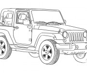 Coloriage 4 X 4 Jeep