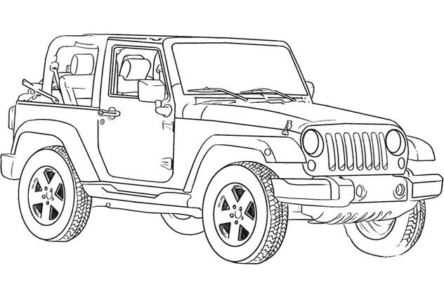 Coloriage et dessins gratuits 4 X 4 Jeep à imprimer