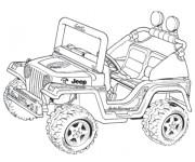 Coloriage et dessins gratuit 4 X 4 Jeep à découper à imprimer