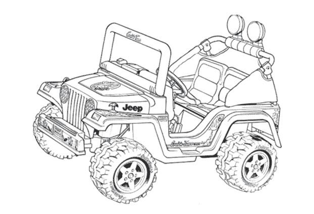 Coloriage et dessins gratuits 4 X 4 Jeep à découper à imprimer