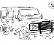 Coloriage et dessins gratuit 4 X 4 Land Rover à imprimer