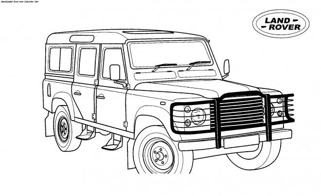 Coloriage et dessins gratuits 4 X 4 Land Rover à imprimer