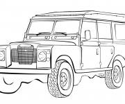 Coloriage 4 X 4 Land Rover à colorier