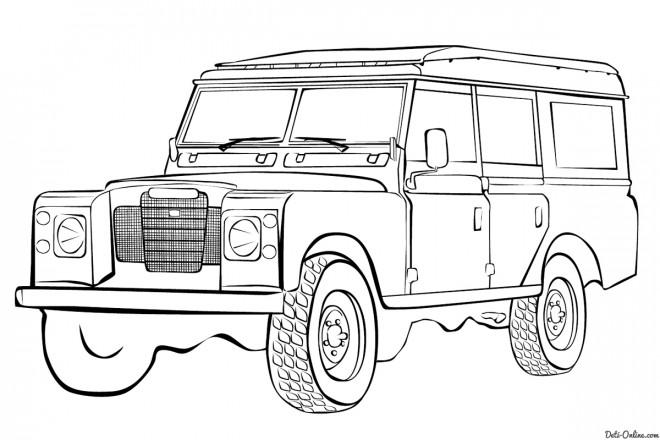 Coloriage et dessins gratuits 4 X 4 Land Rover à colorier à imprimer