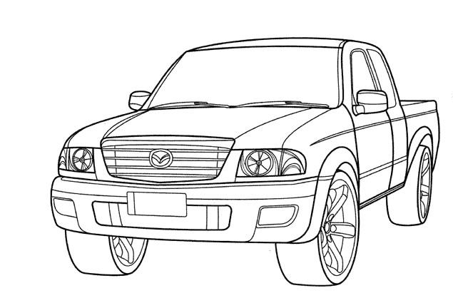 Coloriage et dessins gratuits 4 X 4 Mazda à imprimer