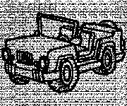 Coloriage 4 X 4 militaire