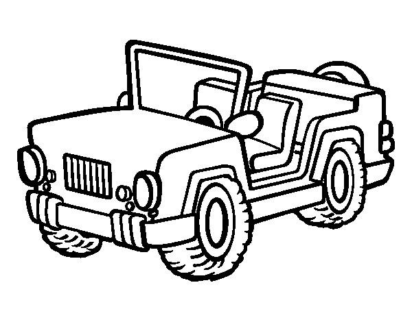 Coloriage et dessins gratuits 4 X 4 militaire à imprimer