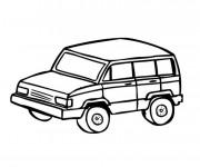 Coloriage et dessins gratuit 4 X 4 simple à imprimer
