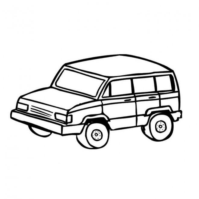 Coloriage 4 X 4 simple dessin gratuit à imprimer