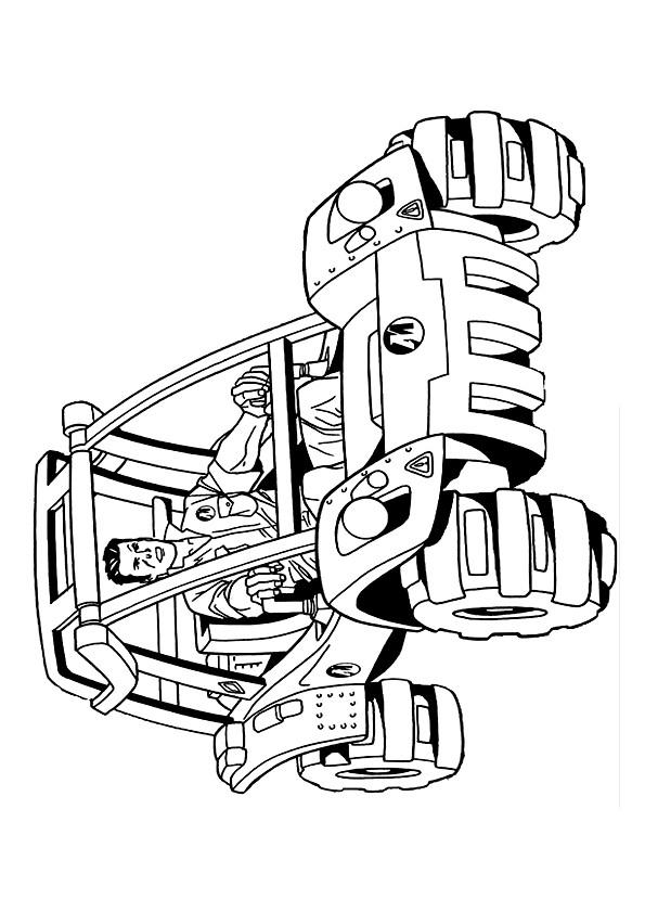 Coloriage et dessins gratuits Chauffeur dans voiture 4 X 4 à imprimer