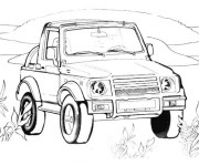 Coloriage Mini voiture  4 X 4