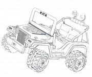 Coloriage Petite voiture 4 X 4 Jeep