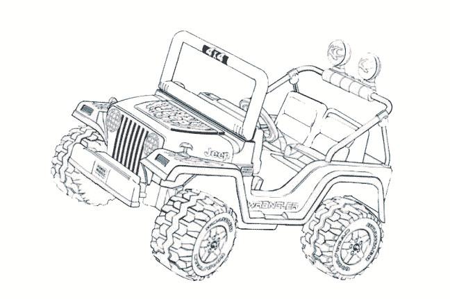Coloriage et dessins gratuits Petite voiture 4 X 4 Jeep à imprimer