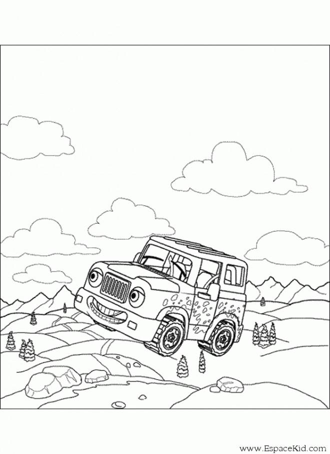 Coloriage et dessins gratuits Voiture 4 X 4 pour enfant à imprimer