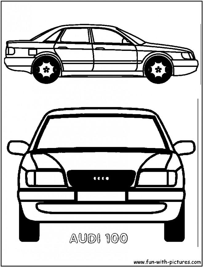 Coloriage et dessins gratuits Ancien modèle de voiture Audi à imprimer
