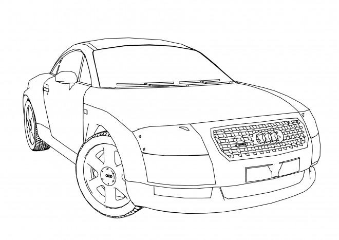 Coloriage et dessins gratuits Audi A1 à imprimer
