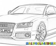 Coloriage et dessins gratuit Audi A4 à imprimer