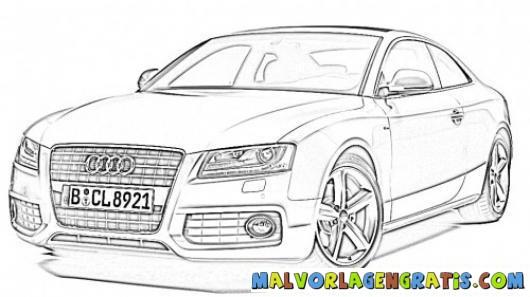 Coloriage et dessins gratuits Audi A4 à imprimer