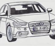 Coloriage et dessins gratuit Audi A6 à imprimer