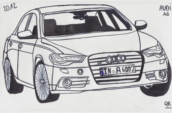 Coloriage et dessins gratuits Audi A6 à imprimer