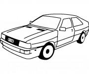 Coloriage et dessins gratuit Audi ancien à imprimer