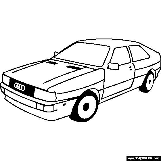 Coloriage et dessins gratuits Audi ancien à imprimer