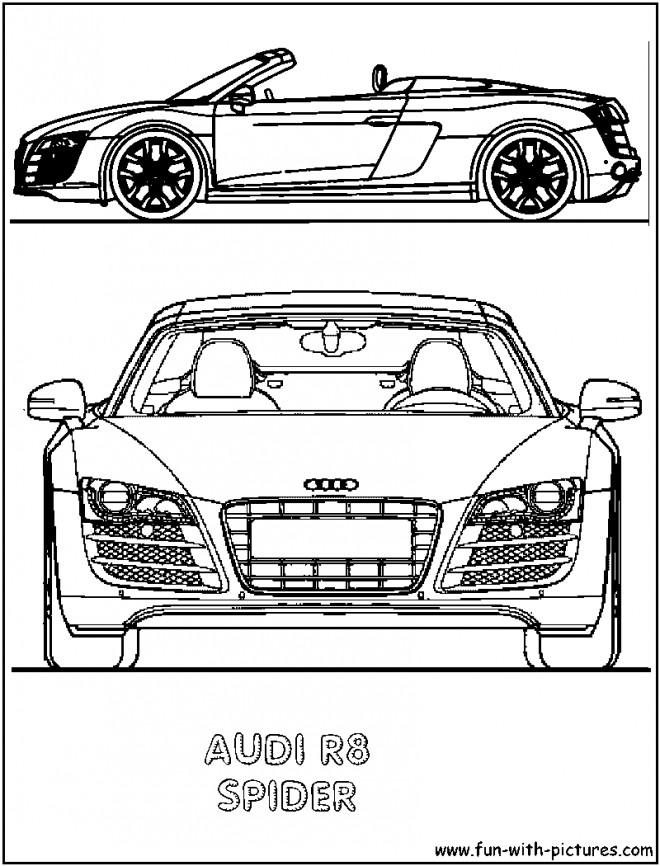 Coloriage et dessins gratuits Audi cabriolet à imprimer