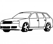 Coloriage Audi classique
