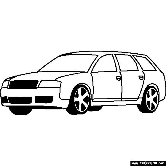 Coloriage et dessins gratuits Audi classique à imprimer