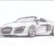 Coloriage Audi décapotable