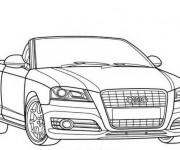 Coloriage et dessins gratuit Audi décapotable en noir et blanc à imprimer