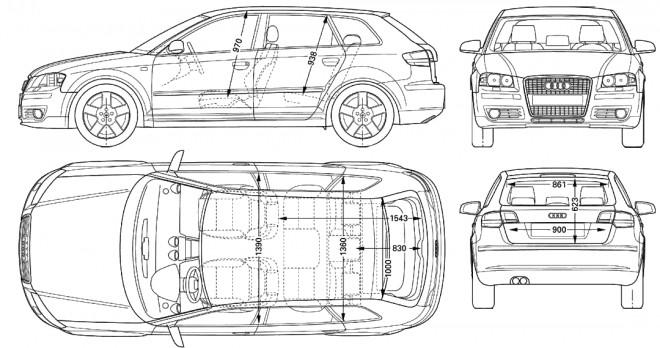Coloriage et dessins gratuits Audi dessin technique à imprimer