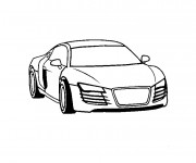 Coloriage Audi facile