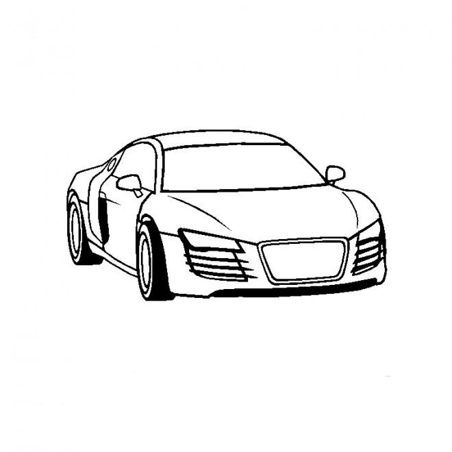 Coloriage et dessins gratuits Audi facile à imprimer